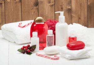 Accessori bagno natalizi in coordinato
